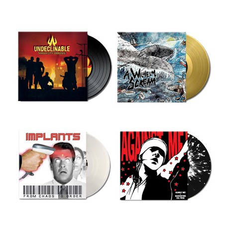 Winter sales - Pack 4 Vinyl (Undeclinable Against Me Implants AWS)