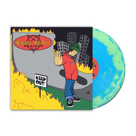Satanic Surfers - Keep Out (Blue Opaque / Green Opaque Vinyl)