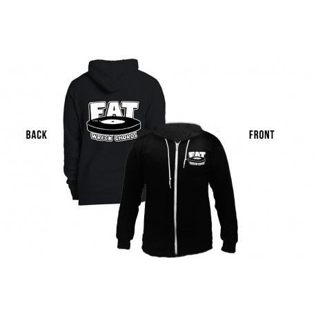 Fat Wreck Zip Hoodie - Logo (Black color)